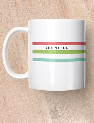 Browse our Collection of Monogram Mugs and personalize by color, design, or style.